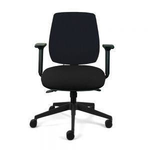 Homeworker Plus Chair (medium back/small seat, with armrests) - Black