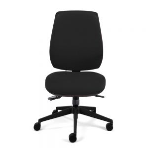 Homeworker Plus Ergonomic Office Chair (high back/standard seat, without armrests) - Black