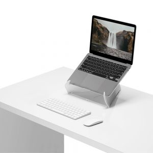 Oripura Laptop Stand - lifestyle shot, showing front angle view