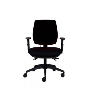 Positiv P-Sit Medium Back Ergonomic Chair - black - front view