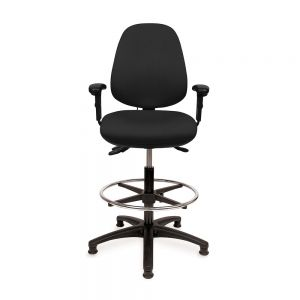 Positiv R600 Medium Back Draughtsman (w/ adjustable armrests/lumbar/seat slide/coccyx cut-out)