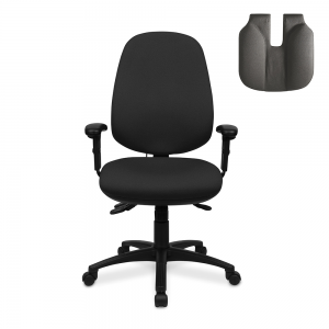 Positiv R600 High Back (w/ adjustable armrests/lumbar/small seat/coccyx cut-out)