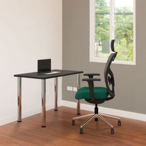 Positiv Homeworker Desk (Screw In Legs) - Black - lifestyle shot