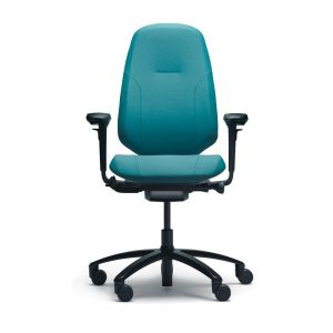 RH Mereo 300 Black Frame (high back) Ergonomic Office Chair - front view