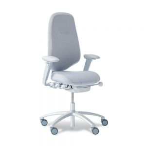 RH Mereo 300 Silver Frame (high back) Ergonomic Office Chair - side angle view