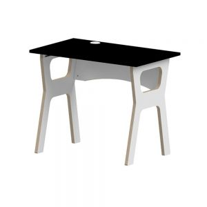 Slot Together Homeworker Desk - Black - side angle view