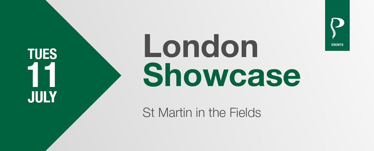 London Showcase banner
