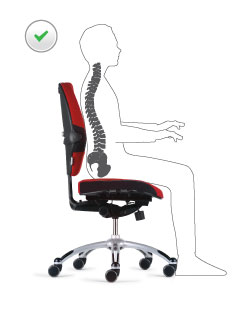 Correct sitting position illustration
