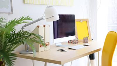 Lighting tips to reduce eye strain when working from home