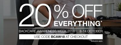 BackCare Awareness Week 2018 - what can we do to prevent back pain at work?