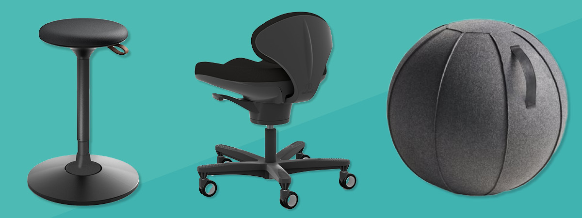 Collection of active sitting chairs