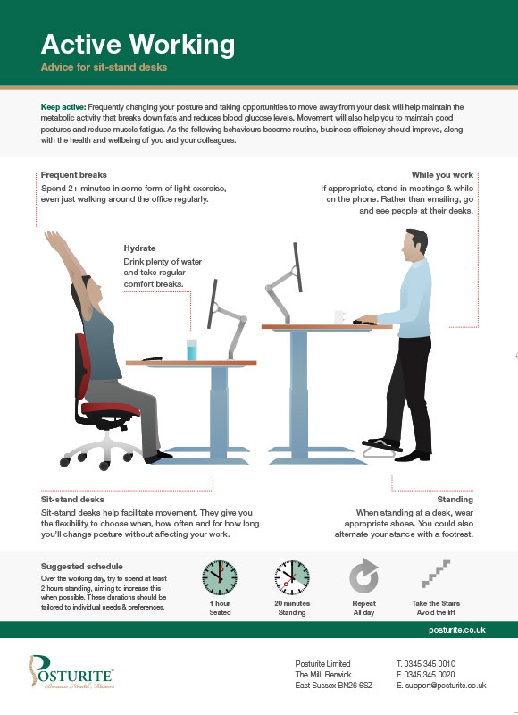 Active working - for sit-stand desks
