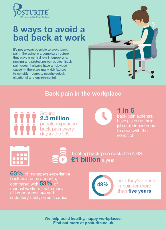 8 ways to avoid a bad back at work