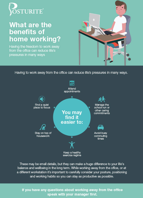 Ergonomics on the go: what are the benefits of home working?