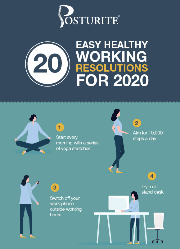 20 easy healthy working resolutions for 2020