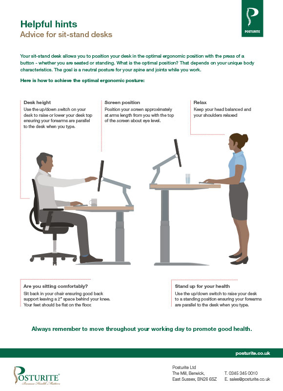 Helpful hints: advice for sit-stand desks