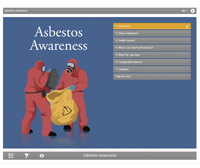 Asbestos Awareness E-learning Course Screenshot