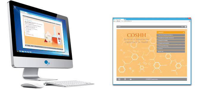 COSHH E-learning Course Screenshot