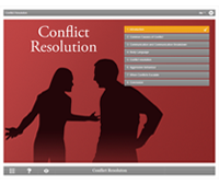 Conflict Resolution E-learning Course Screenshot