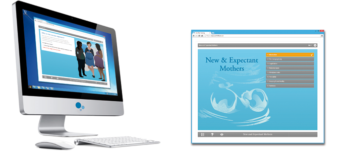 New & Expectant Mothers E-learning Course Screenshot