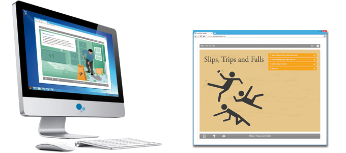 Slips, Trips & Falls E-learning Course Screenshot