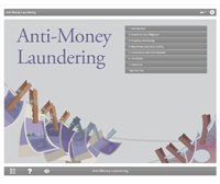 Anti-Money Laundering E-learning Course Screenshot