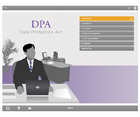 Data Protection Act E-learning Course Screenshot