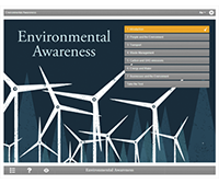 Environmental Awareness E-learning Course Screenshot