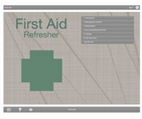 First Aid Refresher E-learning Course Screenshot