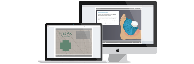 First Aid Refresher e-learning course screenshots