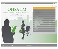 Office Health & Safety for Line Managers E-learning Course Screenshot