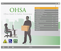 Office Health & Safety Awareness E-learning Course Screenshot