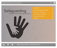 Safeguarding E-learning Course Screenshot