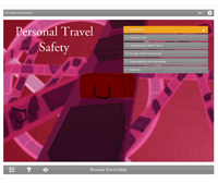 Personal Travel Safety E-learning Course Screenshot