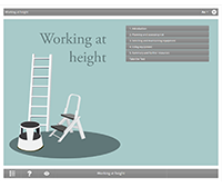 Working at Height E-learning Course Screenshot