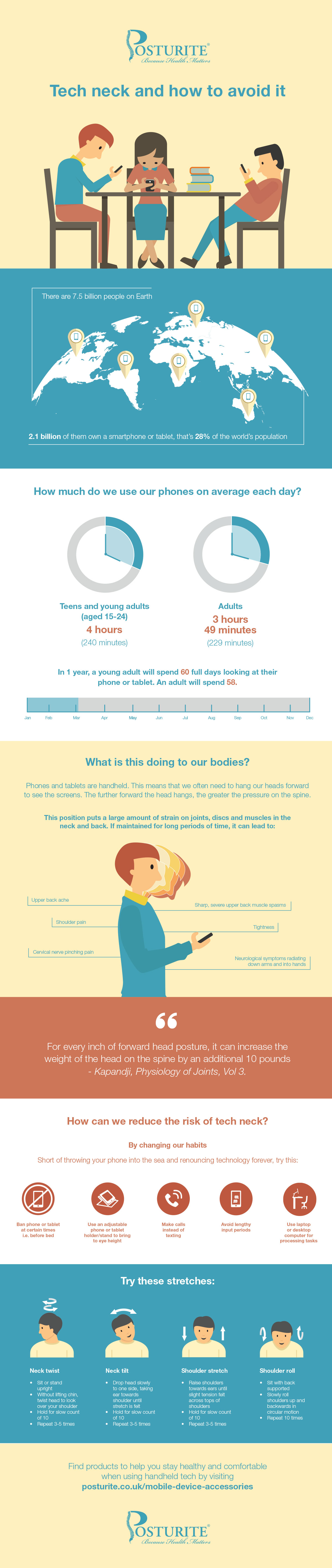 Download our 'tech neck and how to avoid it' infographic